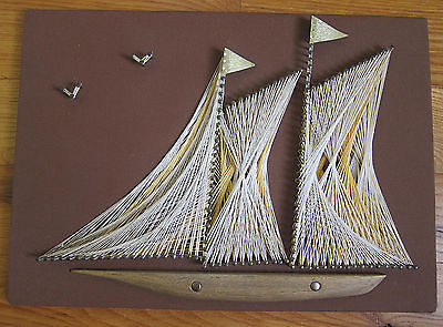 mid-century-vintage-string-art-clipper-ship-sailboat-with-wood-foil-brass-nails-c5653ab5daf3dcc956fad35e48799e4c