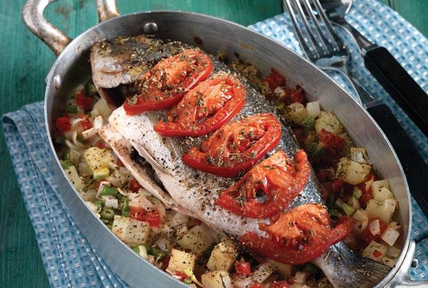 Ψάρι στο φούρνο μελαχανικά