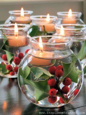Ιδέες για να διακοσμήσετε Χριστουγεννίατικα κεριά!