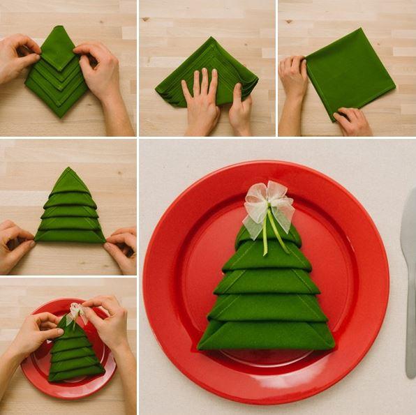 Ιδέες για να διπλώσεις τις πετσέτες για το εορταστικόδείπνο!