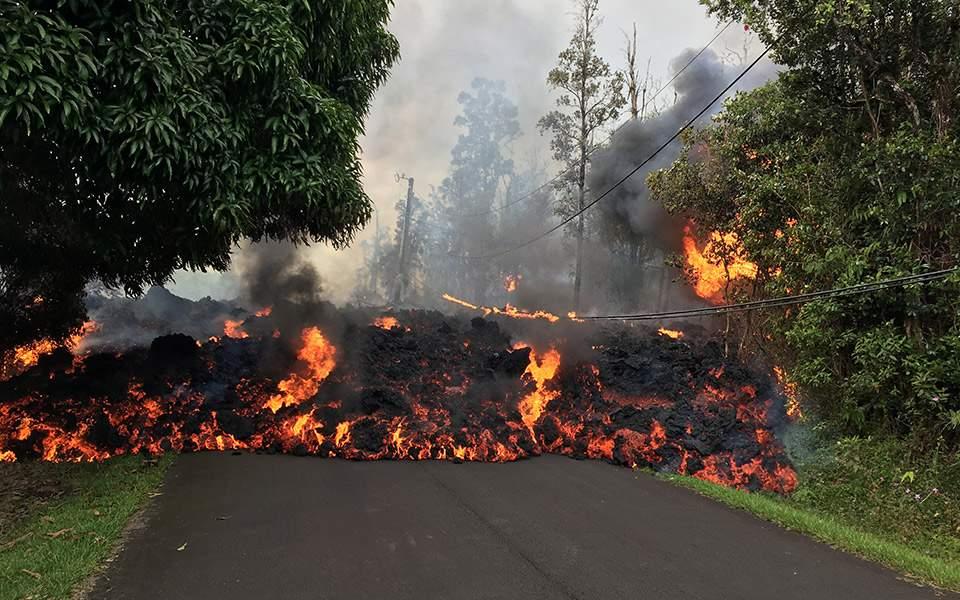 Χαβάη: To ηφαίστειο Κιλαουέα συνεχίζει να «διώχνει» τους κατοίκους από τις εστίες τους(φωτό)