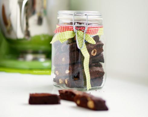 Σοκολατένια Biscotti μεφουντούκια