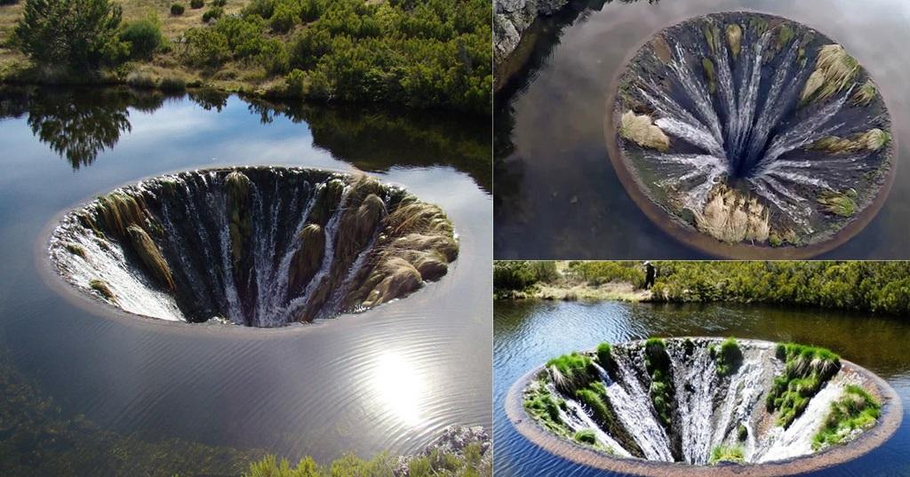 Μυστηριώδης καταρράκτης βρίσκεται μέσα σε λίμνη και δημιουργεί ένα απίστευτοθέαμα
