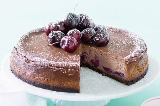 Cheesecake σοκολάτα –κεράσι