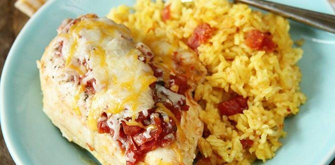 Ρύζι με κοτόπουλο και κρεμώδησάλτσα