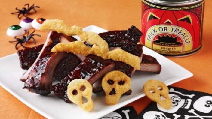Witch's Ribs with Halloween Toasts