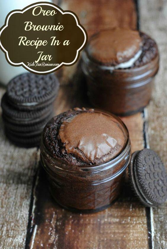 Oreo Brownie Recipe In aJar