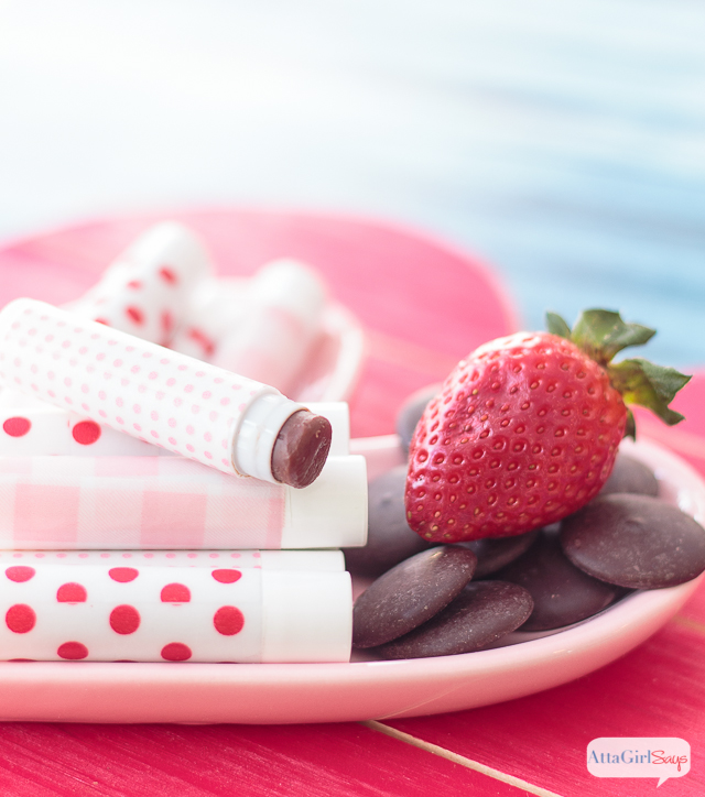 Chocolate Strawberry Homemade Lip Balm
