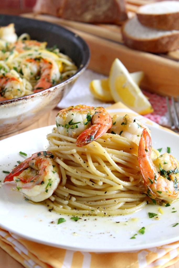 lemon spaghetti with shrimp  Print Lemon Spaghetti withshrimp