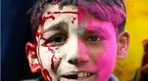 Φωτογράφος δείχνει την αντίθεση ανάμεσα στον κόσμο μας και τις χώρες που είναι σεπόλεμο