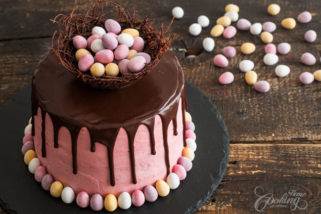 Strawberry Easter Cake