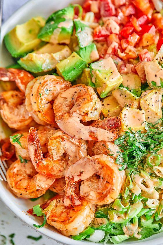 Shrimp and AvocadoSalad
