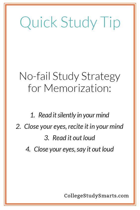 No-Fail Strategy ForMemorization