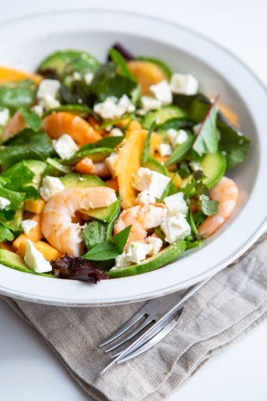 Salade de melon auxcrevettes