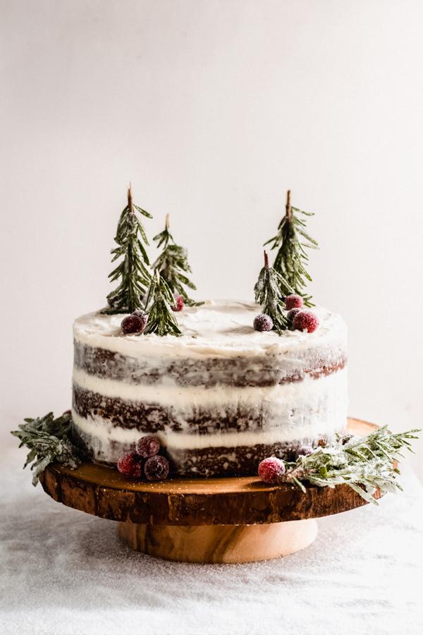Gingerbread Cake with Mascarpone Cream CheeseFrosting
