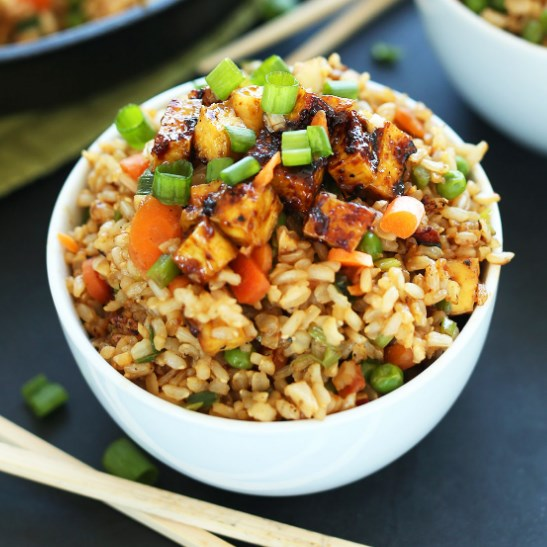 EASY VEGAN FRIED RICE #Vegetarian #Recipes