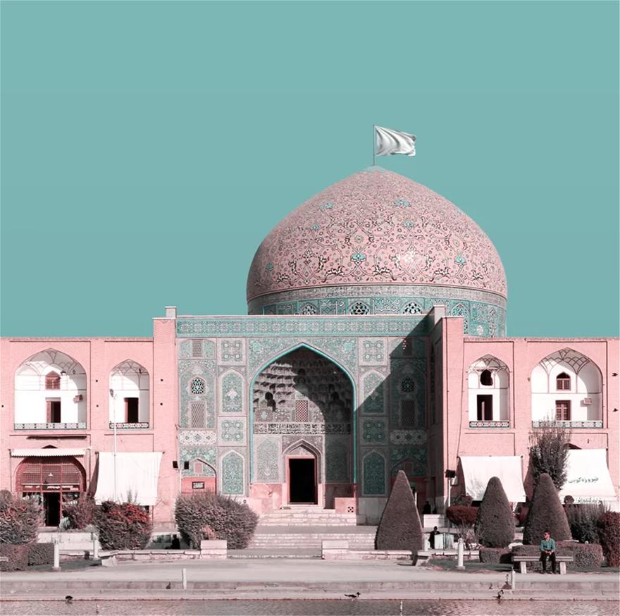 Ιρανός καλλιτέχνης «υψώνει» λευκή σημαία στα μνημεία Παγκόσμιας Πολιτιστικής Κληρονομιάς της χώραςτου