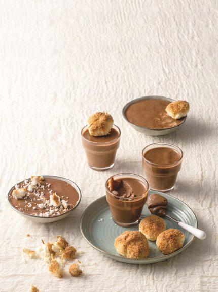 Μους σοκολάτα με εσπρέσο και μπισκότα αμυγδάλου – καρύδας (χωριςγλουτενη)