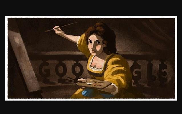 Αρτεμίζια Τζεντιλέσκι : H Google τιμά με doodle την Ιταλίδαζωγράφο