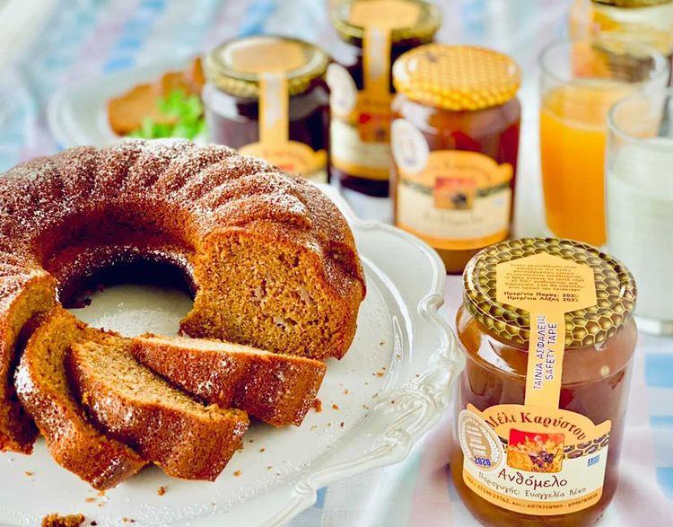 Κέικ Χωρίς Ζάχαρη με μέλι Καρύστου ΚεκηΕυαγγελία
