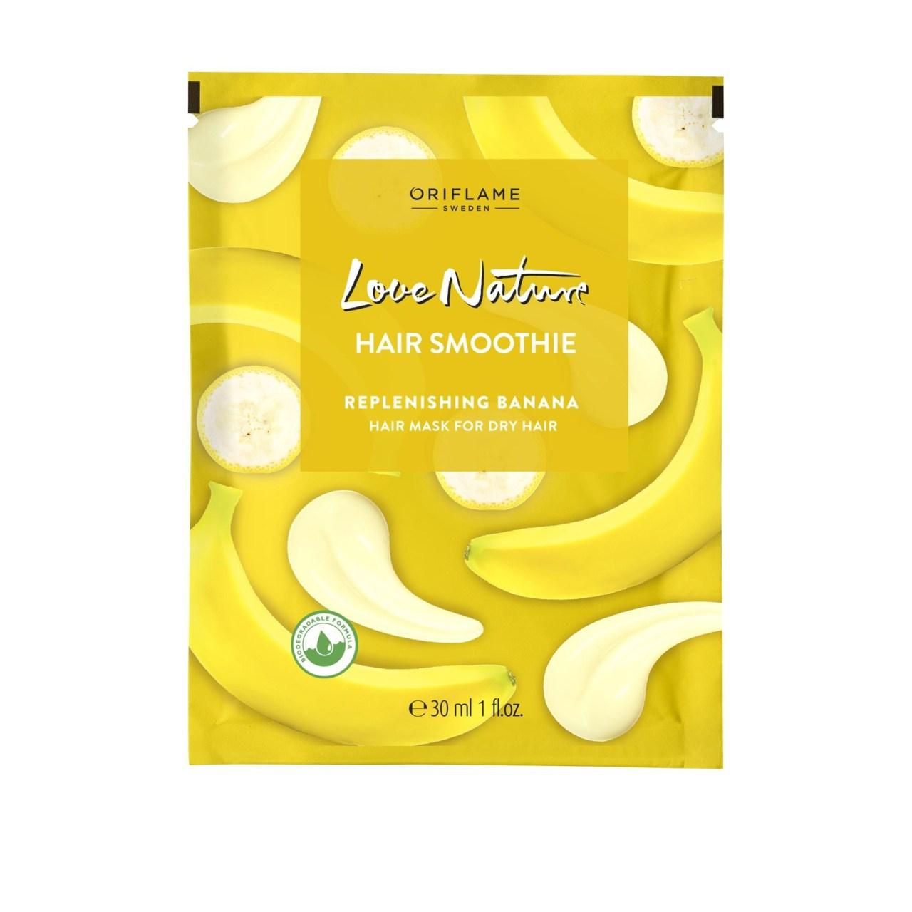 Μάσκα Αποκατάστασης για Ξηρά Μαλλιά με Μπανάνα LoveΝature